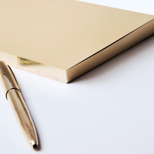 Write Sketch & TACCUINO GOLD LINGOTTO
