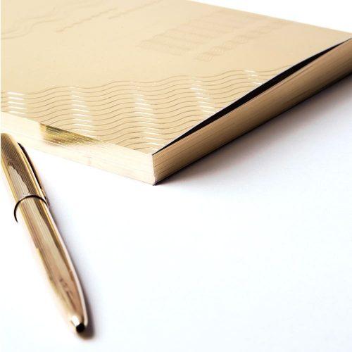 Write Sketch & TACCUINO GOLD ONDE