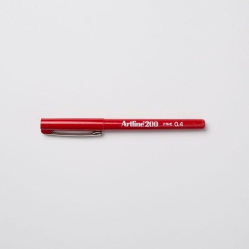 ARTLINE 200 FINELINER 0,4mm - ROSSO