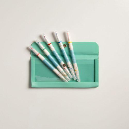 Set porta penne menta