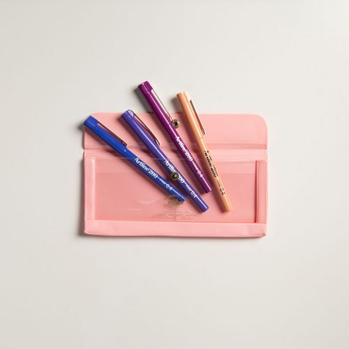Set porta penne rosa