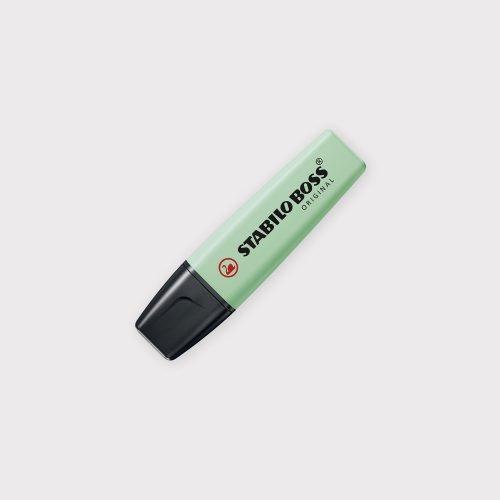 Evidenziatore Stabilo Boss Original Pastel - Verde Menta chiuso