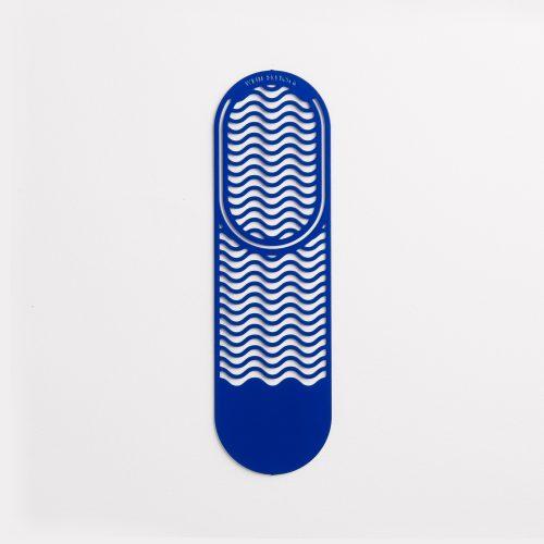 Segnalibro colorato in ottone Waves Blu