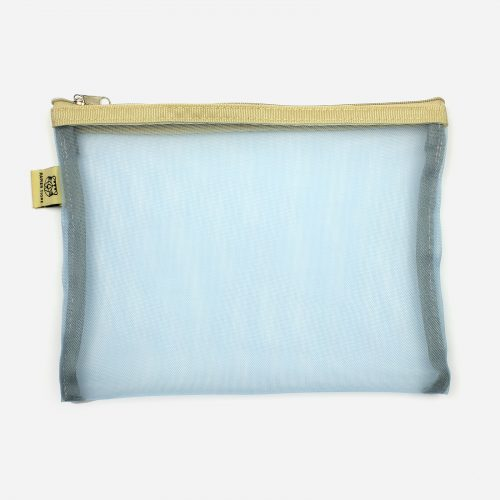 Pochette M in tessuto a rete Light Blue