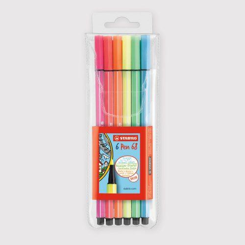 Pennarelli Stabilo Pen 68 - Astuccio da 6 Colori Fluo
