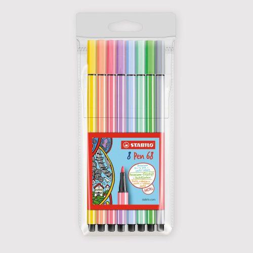 Pennarelli Stabilo Pen 68 - Astuccio da 8 Colori Pastello