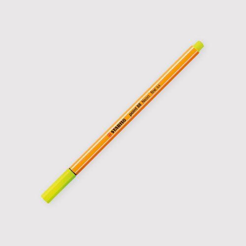 Penne Stabilo Point 88 - Astuccio da 6 Colori Neon chiusa