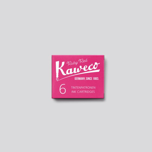 Cartucce per penne Stilografiche Kaweco - Ruby Red chiuso