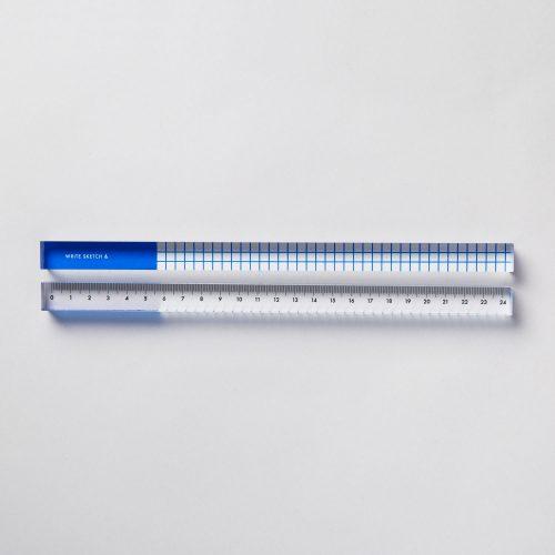 Righello acrilico Grid Blu